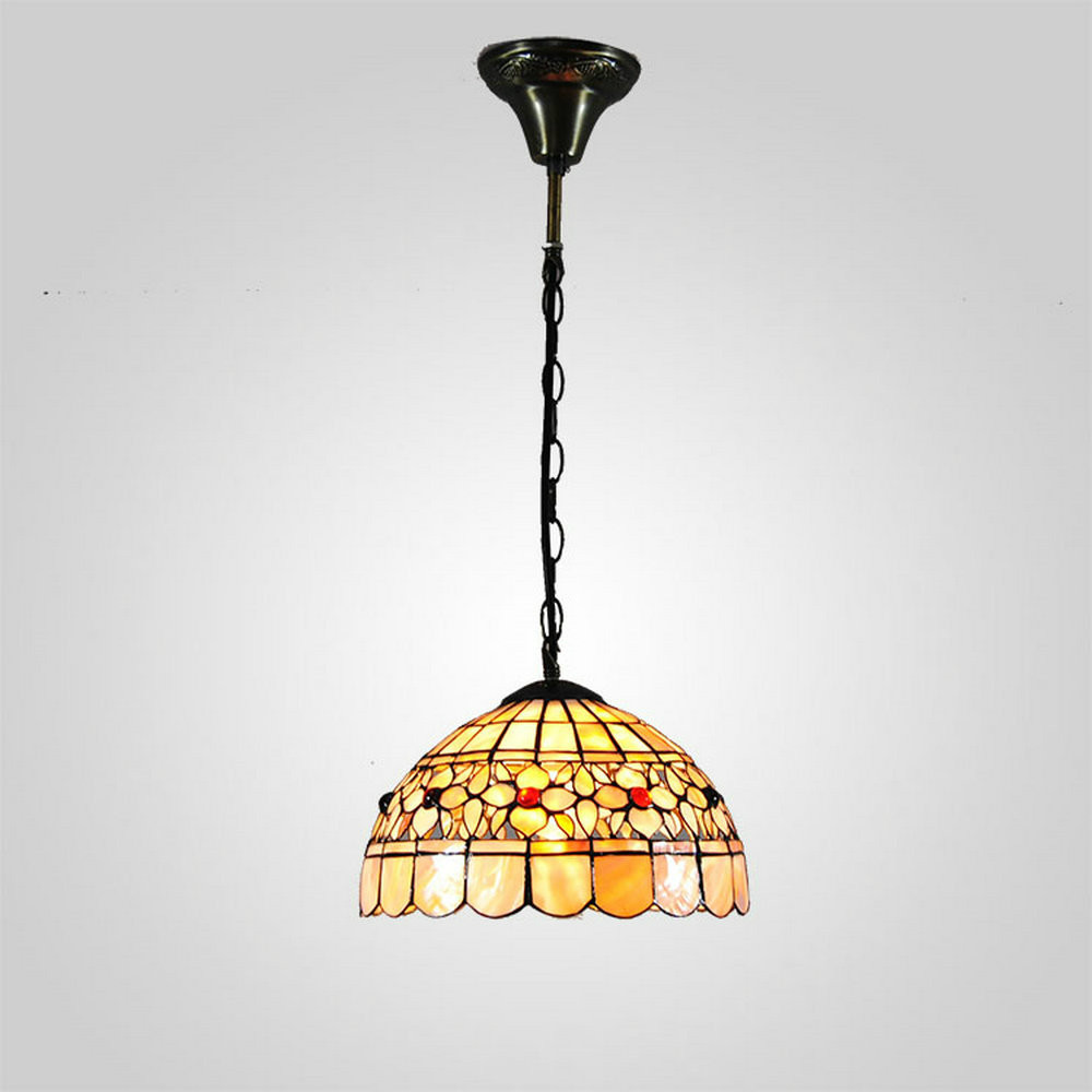 tiffany dining room chandelier shell lamp height adjustable 40w 110