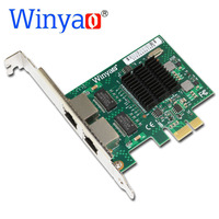 Winyao E575T2 Dual port PCI E X1 Gigabit Ethernet Network Card 10/100/1000Mbps LAN Adapter Controller Wired 82575 E1G42ET