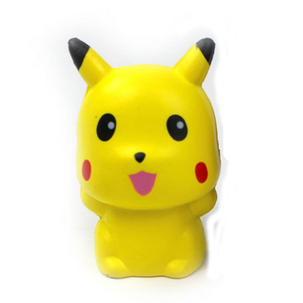 MrY 1PC New Cute Pikachu Squishy Charm Slow Rising Simulation Soft Toys 10CM Squeeze Exquisite Fun  Interesting Toys  Birthday Gift