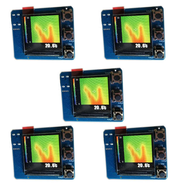 US $284 89 5% OFF|5pcs AMG8833 IR Infrared 8x8 Thermal Imaging Camera Array  Temperature Sensor Module Kit FZ3377-in Drone GPS from Consumer