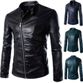 2015 Fashion Autumn&Winter Leather Jacket Men PU Coat Motorcycle Slim Jacket
