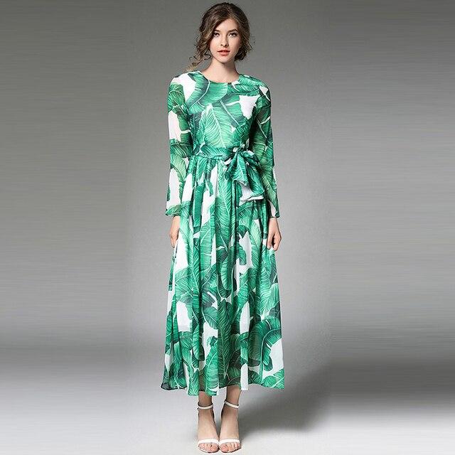 Vestidos de fiesta verde estampados