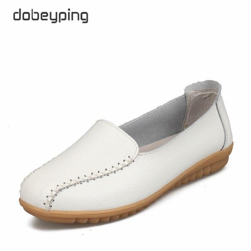 Herzhaft Neue Design Mode Nähen Frauen Casual Schuhe Weiche Echtes Leder Frauen Wohnungen Schuh Schlupf An Weibliche Müßiggänger Damen Bootsschuhe Schuh