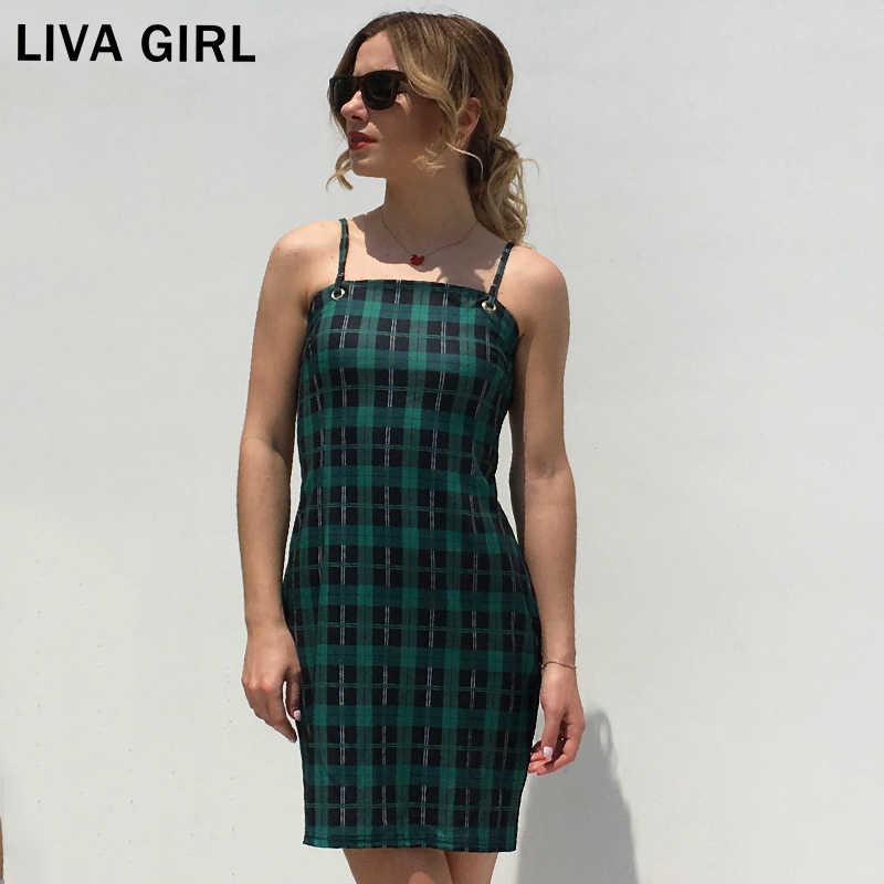 LIVA/летнее женское мини-платье с бретельками и открытой спиной для девочек, новинка 2018 года, хит продаж, пакет для документов, женские сексуальные обтягивающие платья