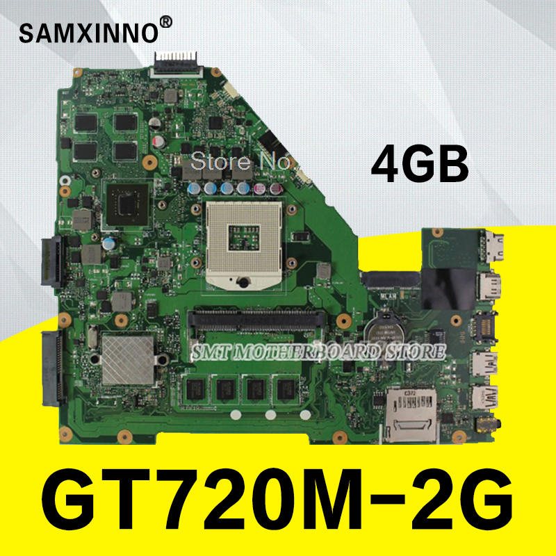 For ASUS R510V X550V motherboard X550VC REV3.0 board Graphic GT720 2 g RAM 4 g memory on board HM76 PGA 989 100% testing kefu x550vc for asus x550vc x550cc x550v r510v laptop motherboard nvidia geforce gt720m 4g ram 2g video card pga989 100% tested