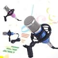 Hot DJ Estudio Micrófono Neto Red de Siembra Directa de Sonido de Grabación Soporte de Micrófono Dinámico Profesional 3.5 Estéreo para Karaoke KTV