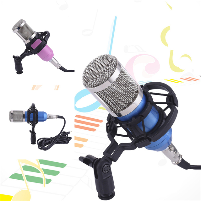 Hot DJ Studio Microphone Net Red Direct Seeding Sound Recording Mic Dynamic Stand Holder Professional 3.5 Stereo for Karaoke KTV