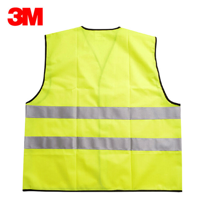 3M V01S0 Reflective Vest Car Annual Inspection Safety Clothing Road Construction Night Traffic Riding Fluorescent Vest 1