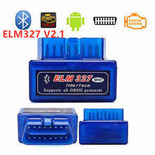 цены Super MINI ELM327 V 2.1 Bluetooth ELM 327 Version 2.1 New Auto OBD2 / OBDII for Android/Symbian Torque Car Code Scanner