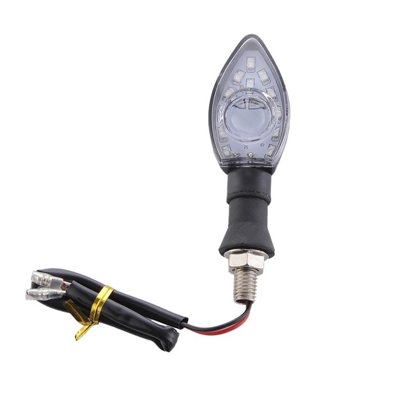 2Pcs Universal Motosiklet LED flashing Velosiped Dönüş siqnal - Avtomobil işıqları - Fotoqrafiya 4