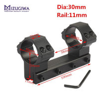 "MIZUGIWA 25.4mm 1 ""/30 มม.แหวน One Piece LOW PROFILE Dovetail Mount แหวน 11mm Rail Waver ยาว 100 มม.Riflescope ไฟฉา(China)"
