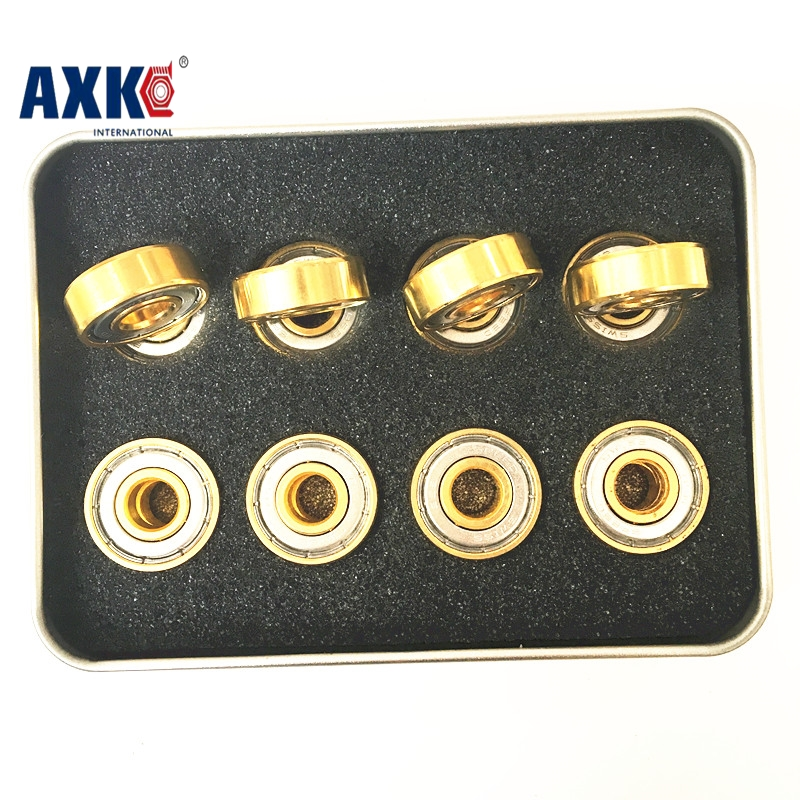 16PCS  608 608z 608zz 8*22*7mm BSB Speed Gold Chrome Steel Miniature Ball Radial Ball Bearing For Inline Skates Free Shipping funville колье brilliance fair желтое 130 см funville