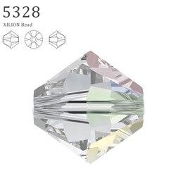 100% ORIGINAL Crystals from Swarovski 5328 XILION Bicone beads made in Austria loose beads rhinestone for DIY jewelry making