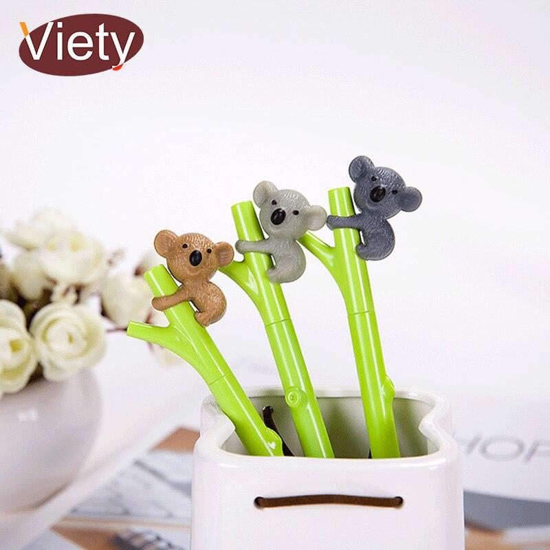 Cute animal Koala student gel pen cute pens material canetas escolar stationery papelaria school office supplies