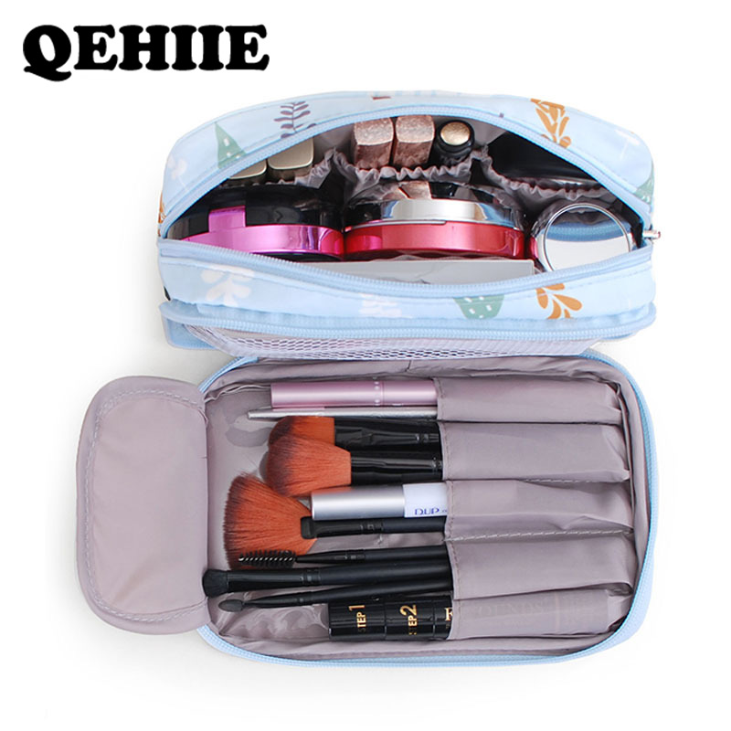 Bags Toilet-Bag Cosmetic-Organizer Portable Travel Waterproof New for Double-Layer High-Capacity