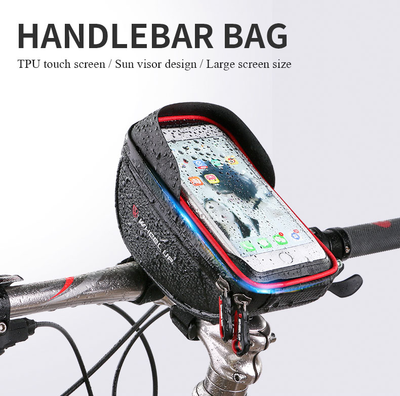 2017 Universal Waterproof Bike Phone Holder Touch Screen Bycicle Handlebar Bag Phone Bags for <font><b>iPhone</b></font> For Samsung suporte celular