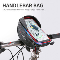 2017 Universal Waterproof Bike Phone Holder Touch Screen Bycicle Handlebar Bag Phone Bags For IPhone For