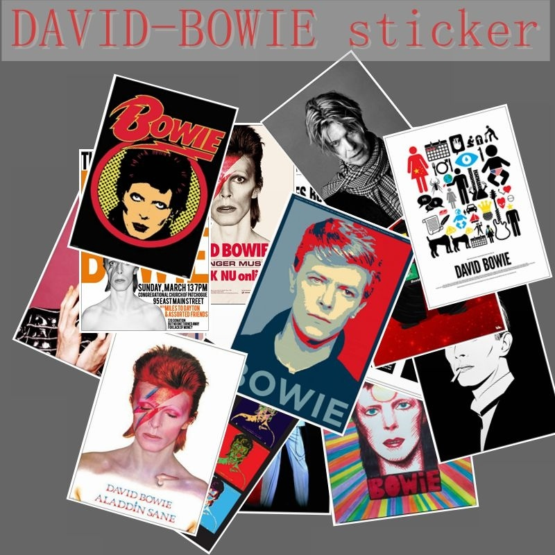 20pcs David Bowie rock band music Guitar stickers For Luggage Laptop Art Painting DIY Poster Stickers waterproof skateboard toy20pcs David Bowie rock band music Guitar stickers For Luggage Laptop Art Painting DIY Poster Stickers waterproof skateboard toy
