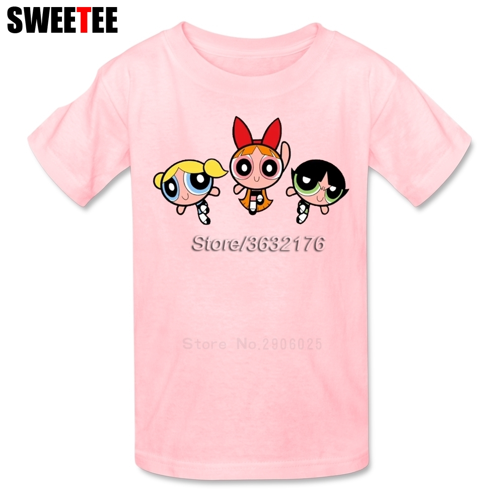 The Powerpuff Girls Boys Girls T Shirt Pure Cotton Short Sleeve O Neck Tshirt Children Tee-shirt 2018 New Tops T-shirt For Baby