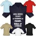 Индивидуальный ЛОГОТИП Новый мужской футболка с коротким рукавом персонализированные фотография печать tee shirt трикотажные Мужчины футболка вышивка логотипа