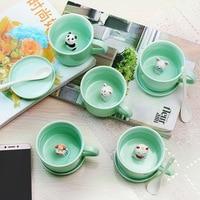 A 3D Animal Coffee Milk Mug Cartoon Creation Ceramic Mug Personality Creative Gift Cup
