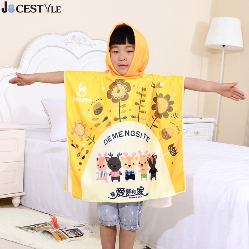 JOCESTYLE Children Beach Towel Kids Hooded Cloak Cartoon Baby Boy Girl Bibulous Bath Towel Infant Personalized Bathrobe