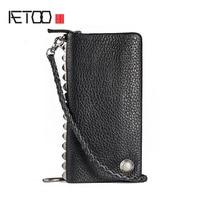 AETOO Rivet Clutch Bag Handbag Men S Zipper Cell Phone Bag Leather Handbag Bag Creative Tide