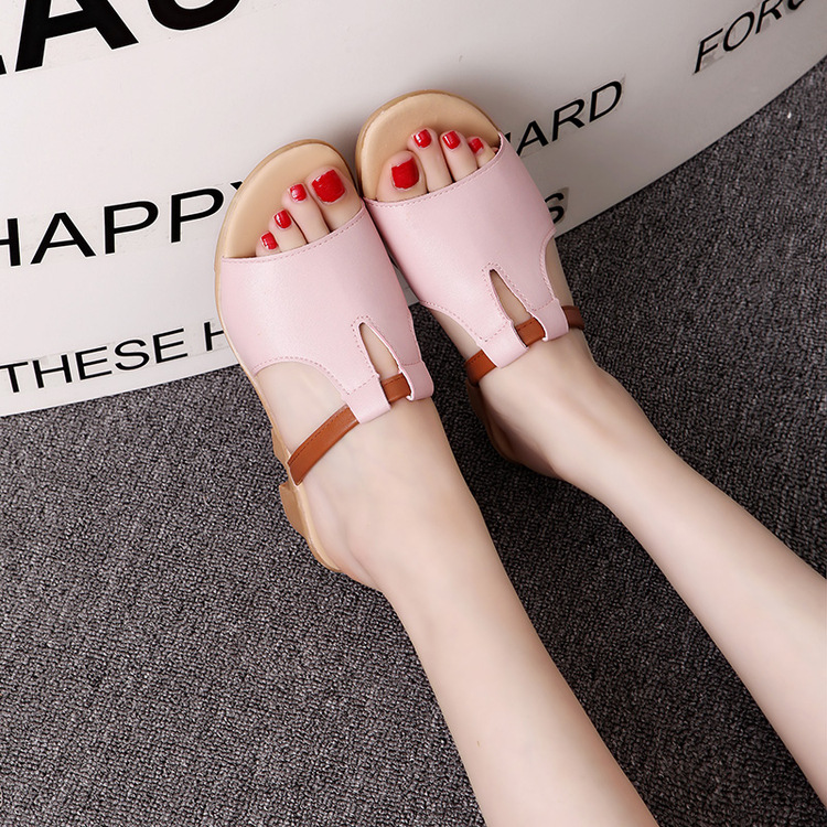 New Summer Slipper Women Slippers Slides Women Sandals Slippers Word Hollow out Women Single Sandals Non-slip Fashion B1210 3