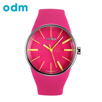 ODM Top Luxury Brand Women Colorful Jelly Watch Men Silicone Band Quartz Watch 50M Waterproof Sports