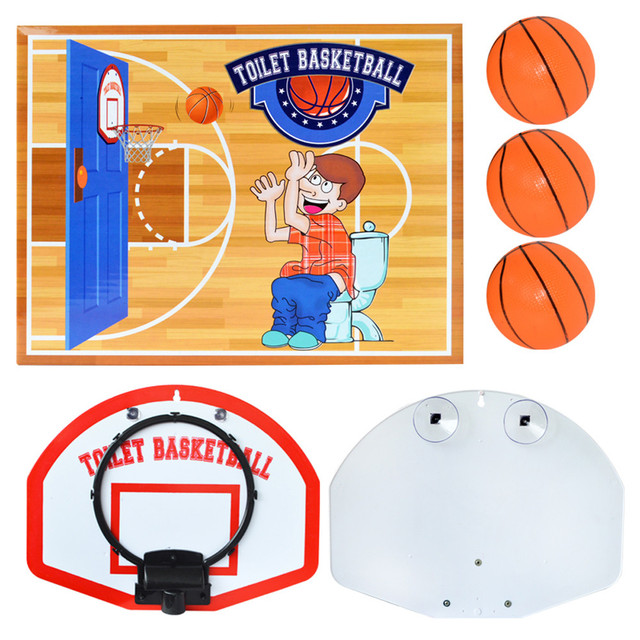 Exquisite Fun Toilet Basketball Game Children Kids Toys Birthday Gifts Antistress Novelty Funny Gadgets Pitching Toy