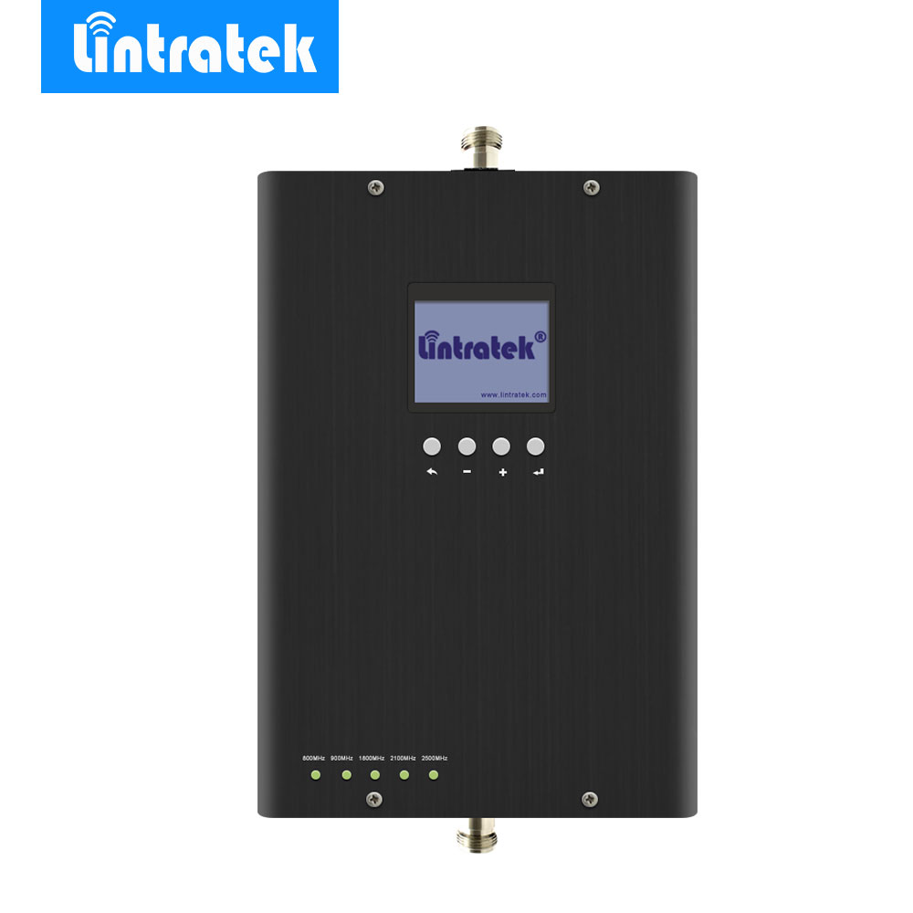 Lintratek Signal Booster 2G 3G 4G LTE Band 20/3/7 EGSM 900MHz UMTS 2100MHz LTE 1800MHz 800MHz 2600MHz for All Carrier in Europe*