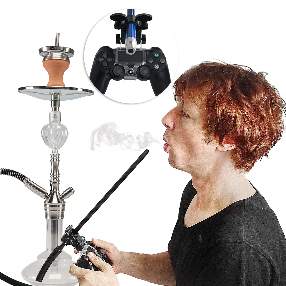 Hookah Smoke Play Hose Holder PS4 Slim Pro Game Controller