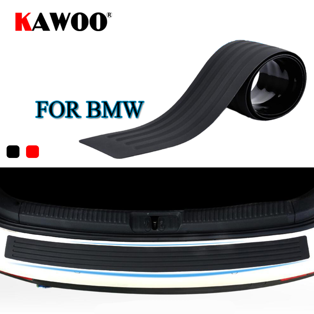 KAWOO Para BMW X1 X3 X5 X6 F15 F16 F20 F25 E83 E70 E84 E53 Z4Rubber Rear Bumper Guard Proteja tampa do Peitoril Da guarnição Almofada da Esteira do Carro Styling