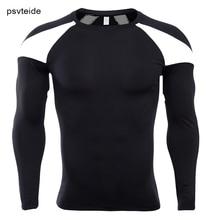 Мужские спортивные футболки Рашгард с длинным рукавом сжатия базовый слой верхней одежды Tight с длинным рукавом футболки спортивная рубашка Человек манга Курта