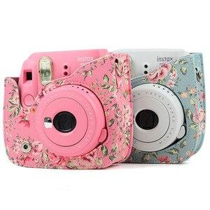 Image 4 - Schouder Camera Tas Beschermhoes Kleurrijke Bos Patronen Lederen Camera Tas Voor Fujifilm Instax Mini 8/ MINI8 +/ 9