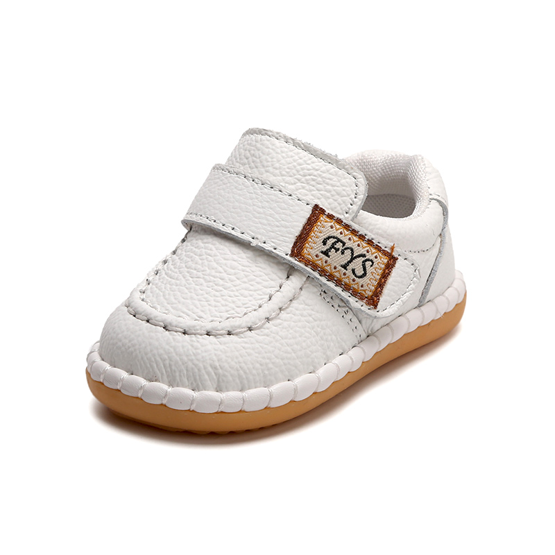 New Top Quality Genuine Leather Baby First Walkers Boys Girl Anti Slip Toddler Shoes Sale