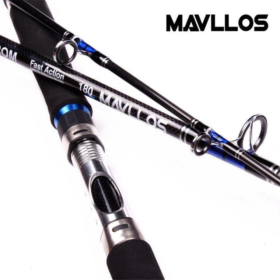 Mavllos Superharten Angeln Jigging Stange 1,8 mt 2,1 mt Locken Gewicht 70-250g Carbon Salzwasser Boot Angeln spinning Rod