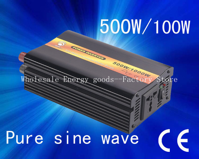 Free shipping!Off grid dc 24V to ac 220V 500w/1000W solar wind car battery power (CTP-500W)