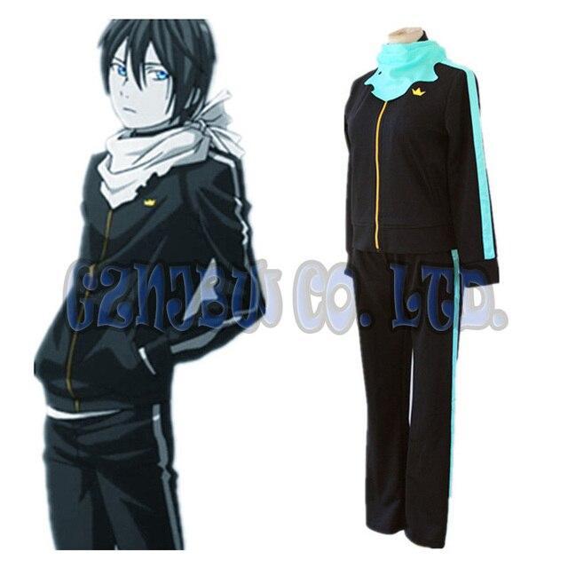Anime Noragami Aragoto Yato sports suit uniform coat +pants+ scarf Costume  cosplay sportswear halloween for