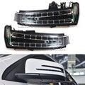Автомобильная боковая Поворотная сигнальная лампа для Mercedes W204 W212 W221 C200  зеркальный указатель направления  Benz  светодиодный индикатор  мигаю...