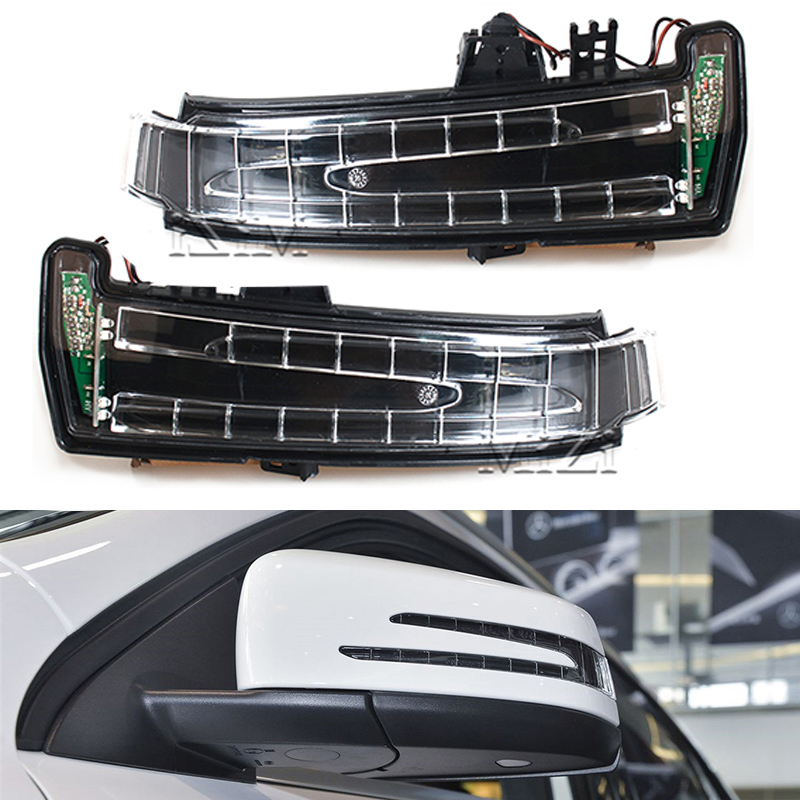 Car Side Mirror Direction Light Turn Signal Lamp For Mercedes W204 W212 W221 C200 Benz LED Signals Indicator Blinker Lamp 1pcs yellow side mirror turn signal light lens for mercedes w204 w212 w221 left side