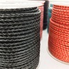 About the Fit 3mm 100Meters Genuine Braided Leather Cord Real Leather Craft Beading Accessories Lacing Jewelry Making Woven Rope