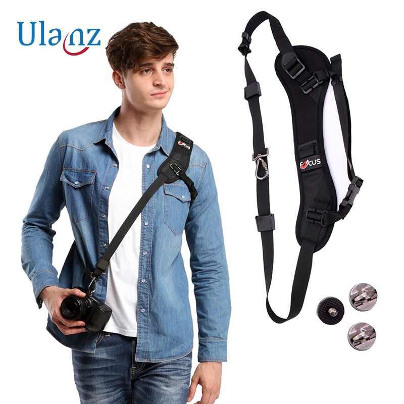 Kamera bügelgurt Schnell Schneller Schulter Neck Sling für Kamera DSLR Canon Eos 7D 1100D 1000D 60D 350D 600D Nikon D7100 D3300