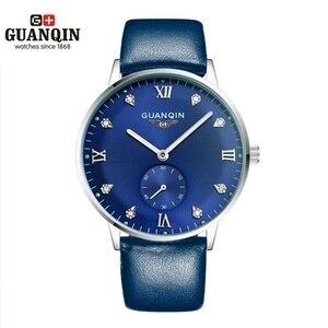 Image 2 - Original GUANQIN Uhren Männer Luxus Top Marke Mechanische Uhr Mode Business Hardlex Casual Armbanduhr Leder Männlichen Uhren