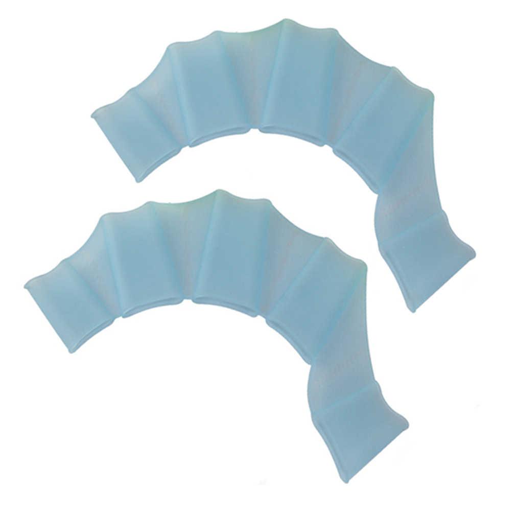 Material de silicona, equipo para natación, aletas de mano, aletas para entrenamiento, guantes de buceo, guantes Webbed para natación, mujeres, hombres, niños