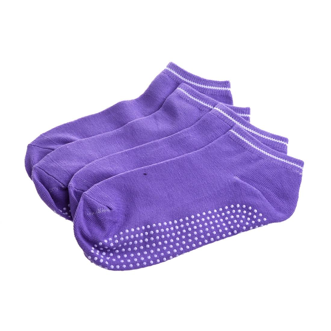 2017 NEW 2 pairs Socks with non-slip massage Granules for women - Purple