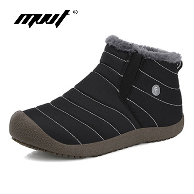 Super Warm Men Winter Boots Waterproof Rain Boots Shoes New Couple Ankle Snow Boots Masculina bota