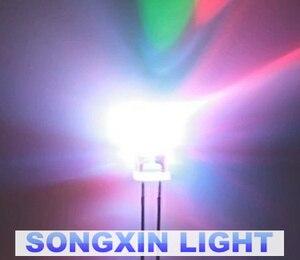Image 2 - 1000 pçs 5mm redondo lento rgb flash arco íris multicolorido vermelho verde azul diodo emissor de luz led frete grátis