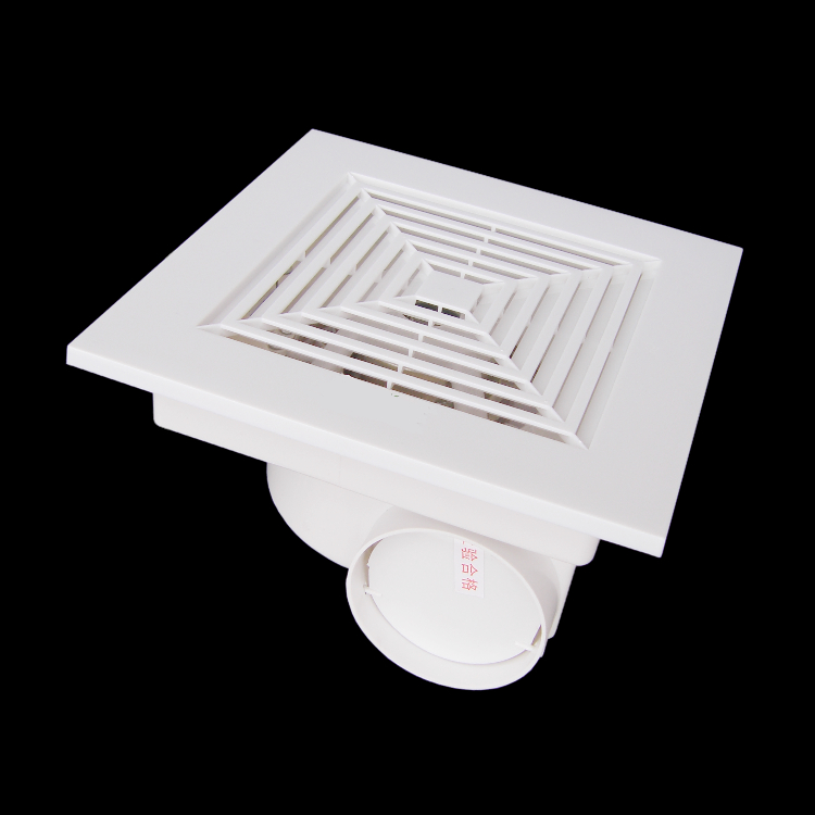Plastic ventilation fan for ceiling bathroom fan living