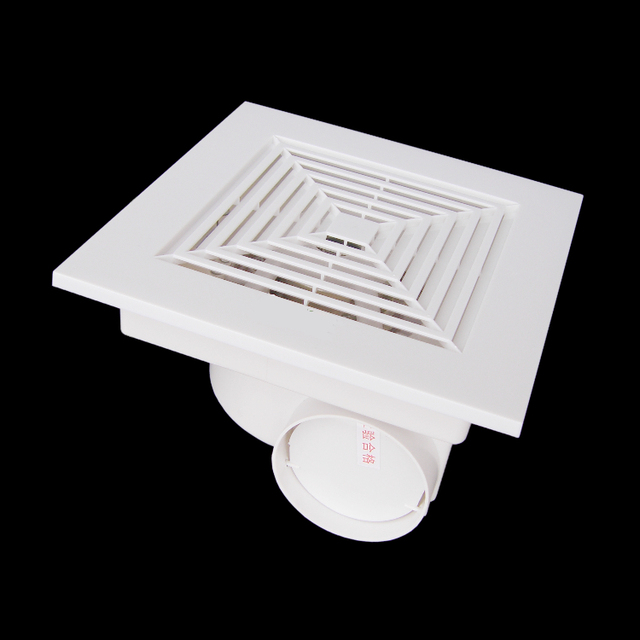 Plastic Ventilation Fan For Ceiling Bathroom Living Room Pipe Exhaust Kitchen Ventilator Air Extractor 8